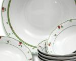kompotová souprava Menuet růže porcelán Thun 7 dílů český porcelán