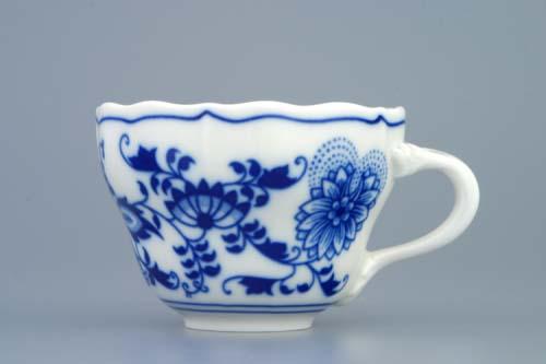 Cibulák šálek vysoký A/1, 0,12 l, originální cibulákový porcelán Dubí, cibulový vzor, 1.jakost