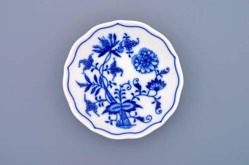Český porcelán, Cibulák podšálek A 11 cm, originální cibulákový porcelán Dubí, cibulový vzor, 1.jakost