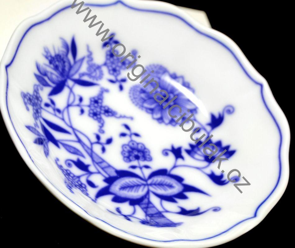 Cibulák podšálek A/1, 13 cm, originální cibulákový porcelán Dubí, cibulový vzor, 1.jakost