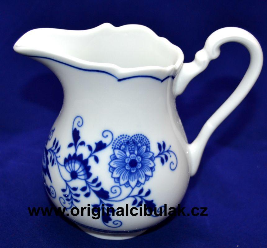 Cibulák mlékovka vysoká 0,25 l, originální cibulákový porcelán Dubí, cibulový vzor, 1.jakost