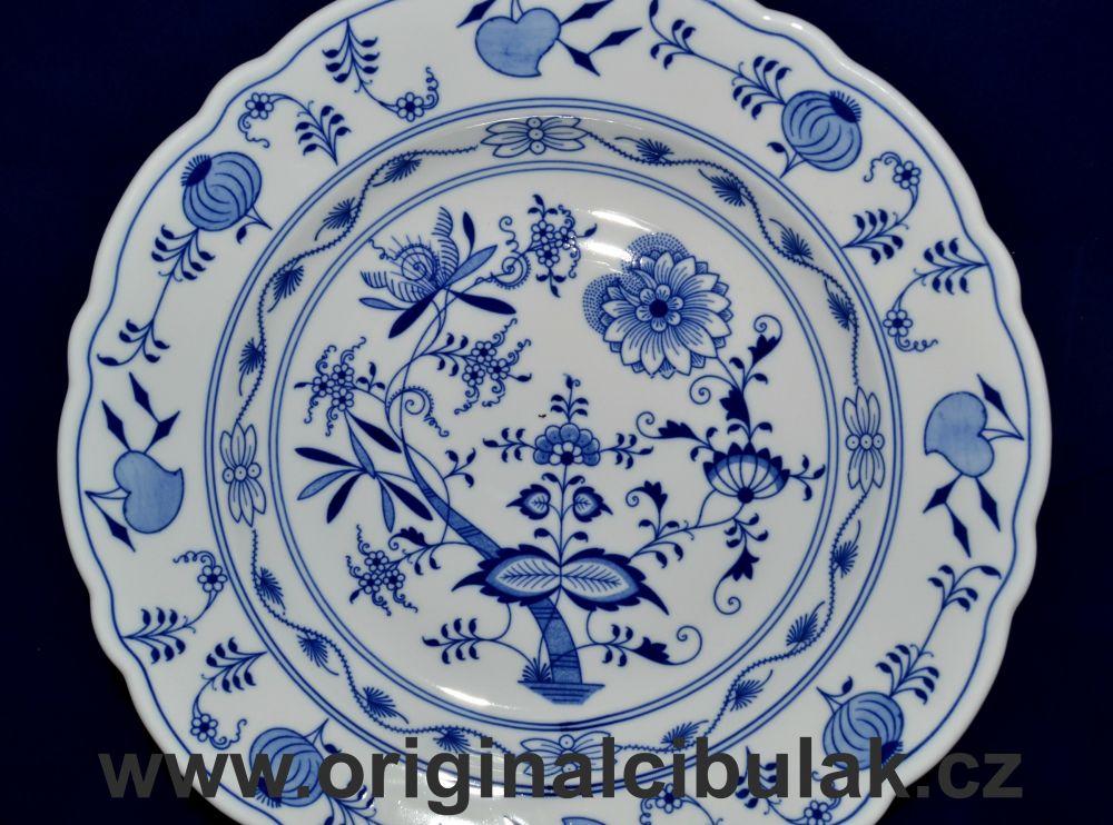 Cibulák mísa kulatá hluboká 34 cm originální cibulákový porcelán Dubí, cibulový vzor, 1.jakost