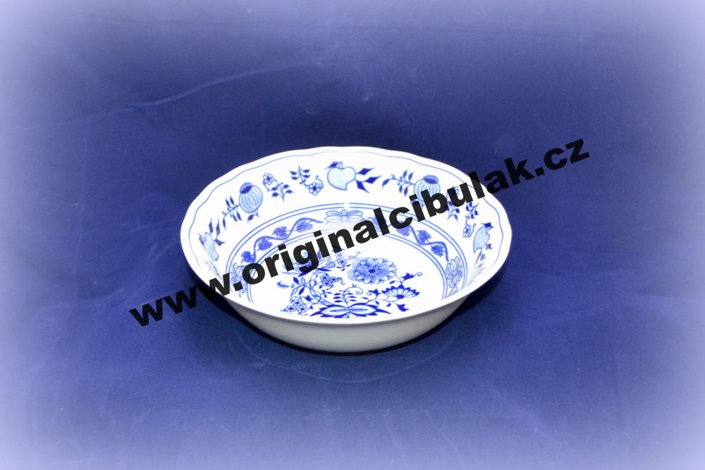 Cibulák mísa kompotová vysoká 21 cm originální cibulákový porcelán Dubí, cibulový vzor, 1.jakost
