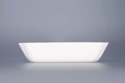 Cibulák mísa salátová čtyřhranná 18 cm originální cibulákový porcelán Dubí, cibulový vzor, 1.jakost
