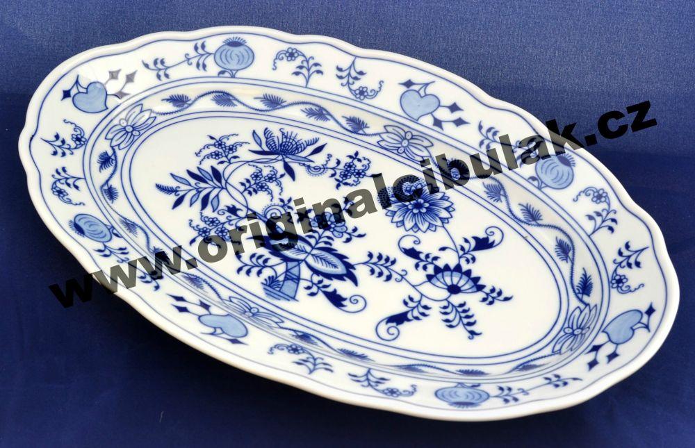 Cibulák mísa oválná 35 cm originální cibulákový porcelán Dubí, cibulový vzor, 1.jakost