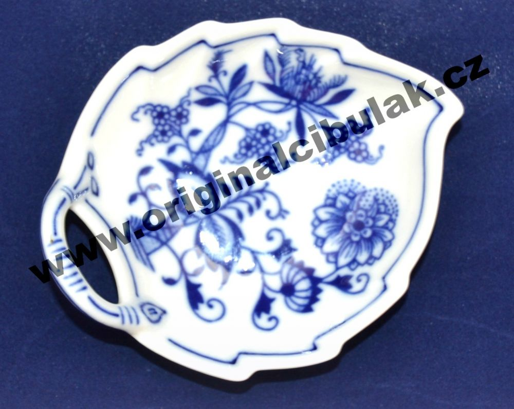 Cibulák mísa list 10,5 cm originální cibulákový porcelán Dubí, cibulový vzor, 1.jakost