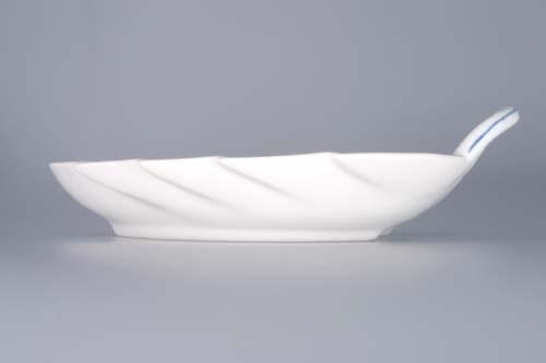 Cibulák mísa list 19 cm originální cibulákový porcelán Dubí, cibulový vzor, 1.jakost