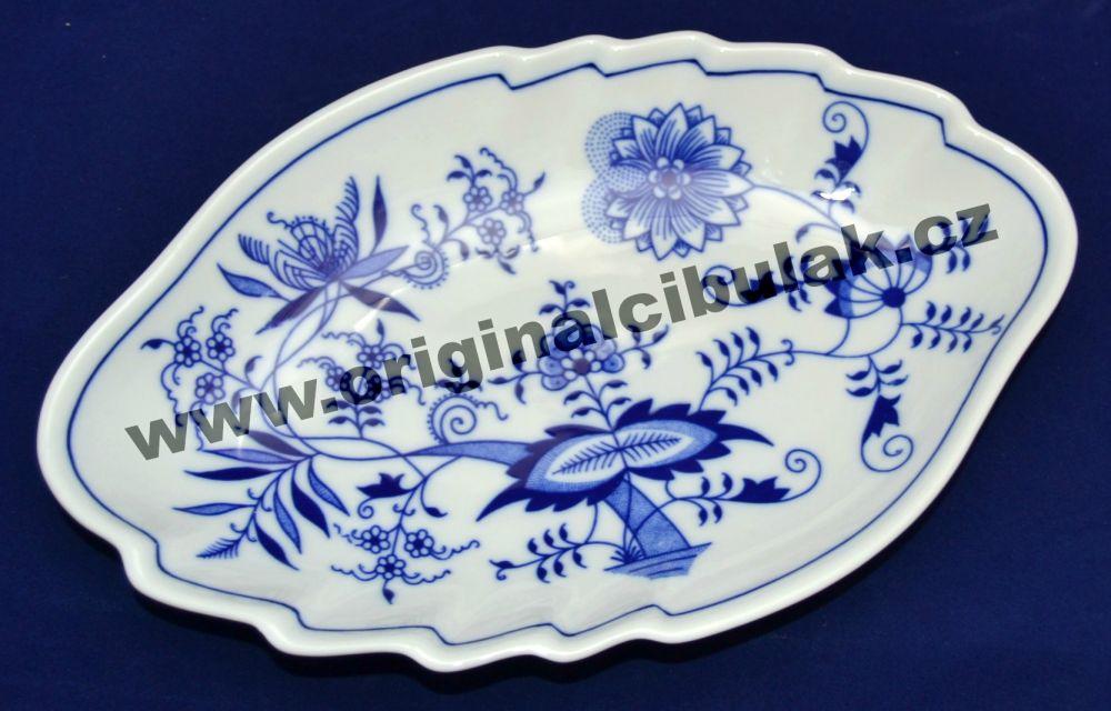 Cibulák mísa dvojlist 24 cm originální cibulákový porcelán Dubí, cibulový vzor, 1.jakost