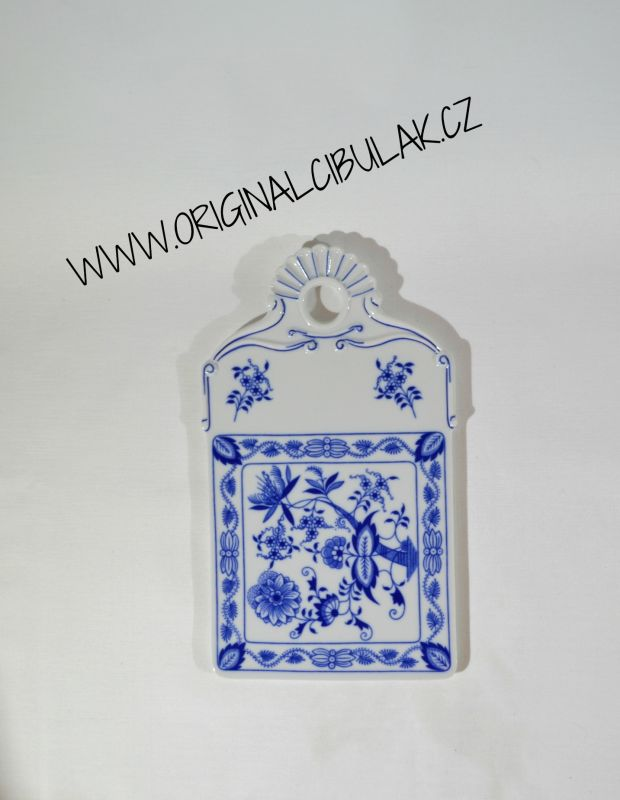 Cibulák podnos na chléb, 27,5 cm, originální cibulákový porcelán Dubí, cibulový vzor, 1.jakost
