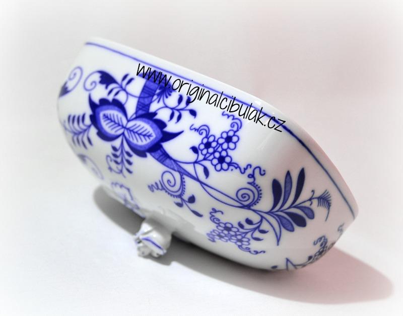 Cibulák Máslenka hranatá velká - vršek, 15 cm, originální cibulákový porcelán Dubí, cibulový vzor, 1.jakost
