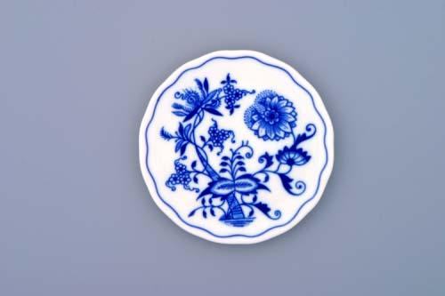 Cibulák podložka pod sklenici 10 cm originální cibulákový porcelán Dubí, cibulový vzor, 1.jakost