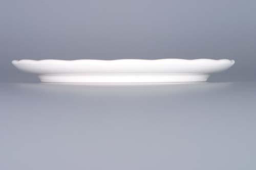 Podložka porcelán bílý pod konvici 14,5 cm Český porcelán Dubí 1.jakost