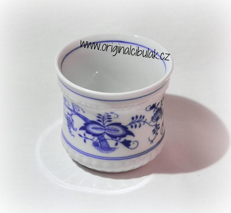 Cibulák hrnek Perlový velký 0,37 l originální cibulákový porcelán Dubí, cibulový vzor, 1.jakost