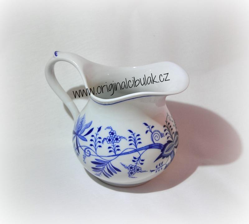 Cibulák džbán baňatý 1,10 l, originální cibulákový porcelán Dubí, cibulový vzor, 1.jakost