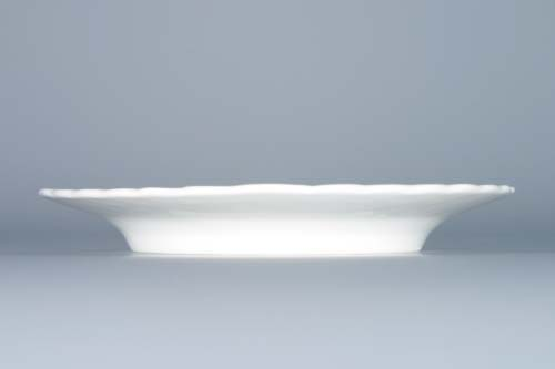 Cibulák talíř reliéfní 15 cm originální cibulákový porcelán Dubí, cibulový vzor, 1.jakost