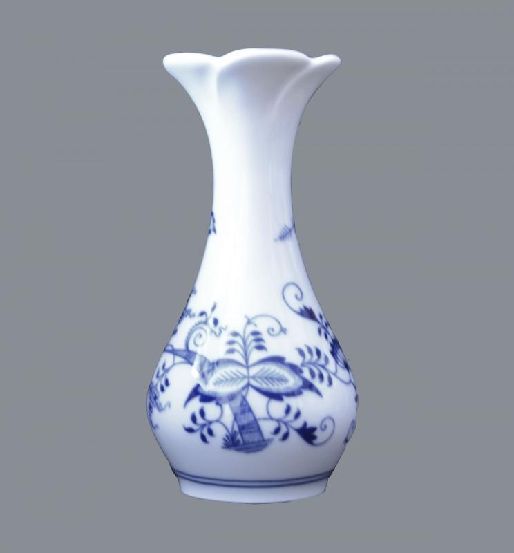 Cibulák váza kytka , originální cibulákový porcelán Dubí, cibulový vzor, 1.jakost