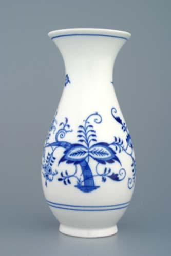 Cibulák váza 1210/2, 20 cm originální cibulákový porcelán Dubí, cibulový vzor, 1.jakost