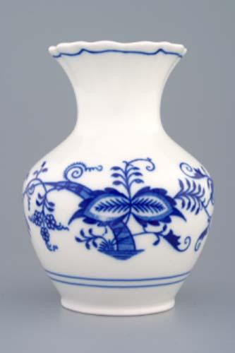 Cibulák váza 2544 , 13,5 cm originální cibulákový porcelán Dubí, cibulový vzor, 1.jakost
