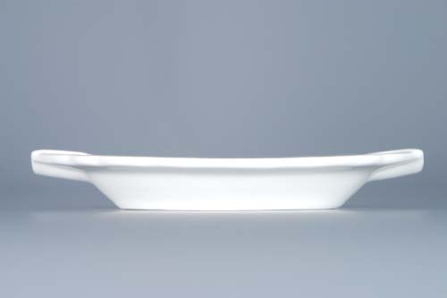 Cibulák popelník oválný 16 cm originální cibulákový porcelán Dubí, cibulový vzor, 1.jakost