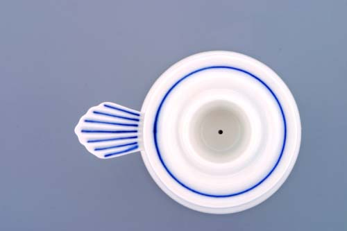 Cibulák svícen 1991 s ouškem 6,5 cm originální cibulákový porcelán Dubí, cibulový vzor, 1.jakost
