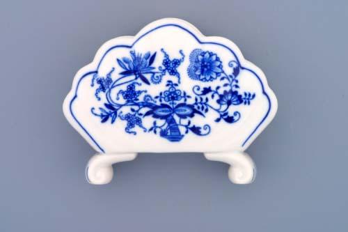 Cibulák stojánek na ubrousky 13 cm originální cibulákový porcelán Dubí, cibulový vzor, 1.jakost