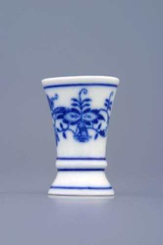 Cibulák váza 1213 mini 4,5 cm originální cibulákový porcelán Dubí, cibulový vzor, 1.jakost