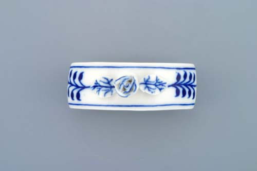 Cibulák kroužek na ubrousky s růží 7 cm originální cibulákový porcelán Dubí, cibulový vzor, 1.jakost