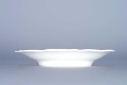 Cibulák podšálek zrcadlový nízký ZC/2 12,4 cm originální cibulákový porcelán Dubí, cibulový vzor, 1.jakost