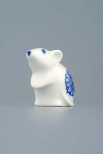 Cibulák myš 5 cm originální cibulákový porcelán Dubí, cibulový vzor, 1.jakost