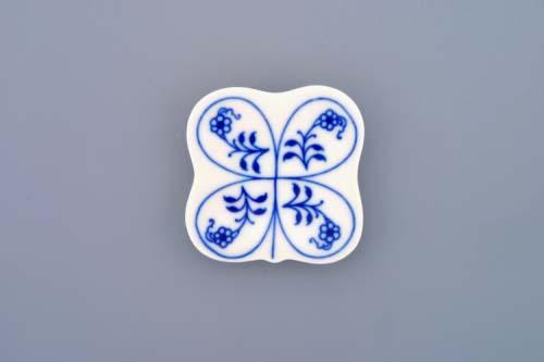 Cibulák Podložka pod hůlky 5 cm originální cibulákový porcelán Dubí, cibulový vzor, 1.jakost
