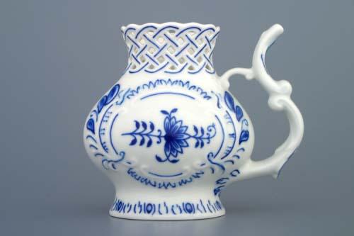 Cibulák pohárek lázeňský prolamovaný 12 cm originální cibulákový porcelán Dubí, cibulový vzor, 1.jakost