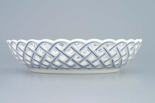 Cibulák Mísa kulatá prolamovaná 18 cm originální cibulákový porcelán Dubí, cibulový vzor, 1.jakost