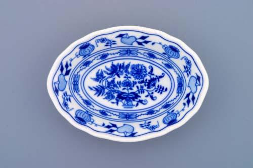 Cibulák miska raviere oválná 15 cm originální cibulákový porcelán Dubí, cibulový vzor, 1.jakost