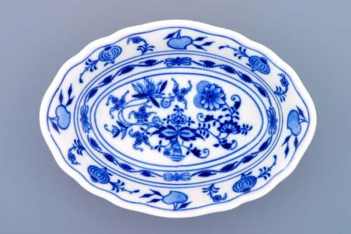 Cibulák miska raviere oválná 18 cm originální cibulákový porcelán Dubí, cibulový vzor, 1.jakost