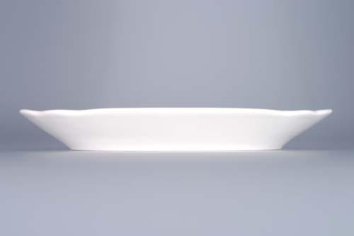 Cibulák mísa plochá hranatá 24 cm originální cibulákový porcelán Dubí, cibulový vzor, 1.jakost