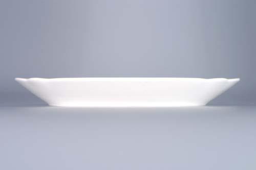 Cibulák mísa plochá hranatá 28 cm originální cibulákový porcelán Dubí, cibulový vzor, 1.jakost