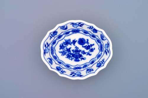 Cibulák miska na cukr 11 cm originální cibulákový porcelán Dubí, cibulový vzor, 1.jakost