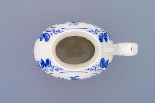 Cibulák Pohárek lázeňský reliéfní 12 cm originální cibulákový porcelán Dubí, cibulový vzor, 1.jakost
