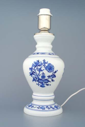 Cibulák Lampový podstavec 1972 s monturou 29 cm originální cibulákový porcelán Dubí , cibulový vzor, 1. jakost