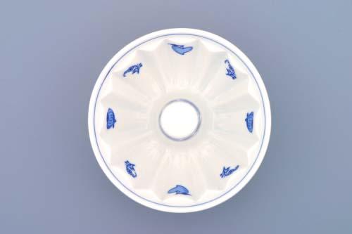 Cibulák bábovka malá 13,7 cm originální cibulákový porcelán Dubí , cibulový vzor, 1. jakost
