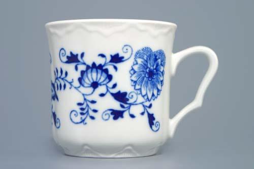 Porcelán Cibulák hrnek 0,27 l Karel , originální cibulákový porcelán Dubí, cibulový vzor, 1.jakost