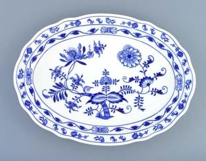 talíř oválný 35 cm 10483 cibulák český porcelán Dubí
