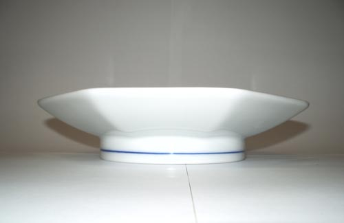 Cibulák talíř stolní Oktan osmihranný 19,5 cm originální cibulákový porcelán Dubí, cibulový vzor, 1.jakost