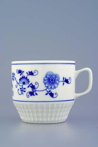 Cibulák hrnek Fuji 0,26 l originální cibulákový porcelán Dubí, cibulový vzor, 1.jakost