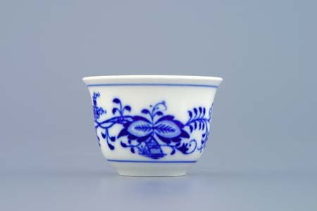 Cibulák Kalíšek Ali II M 0,05 l originální cibulákový porcelán Dubí, cibulový vzor, 1.jakost