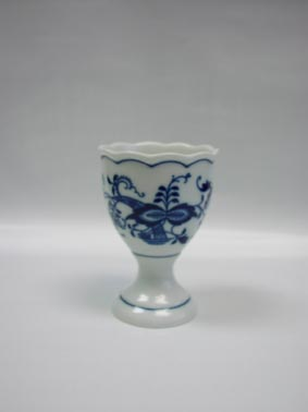 Cibulák Kalíšek na vejce bez podstavce velký 9,5 cm balení po 1 ks originální cibulákový porcelán Dubí, cibulový vzor, 1.jakost