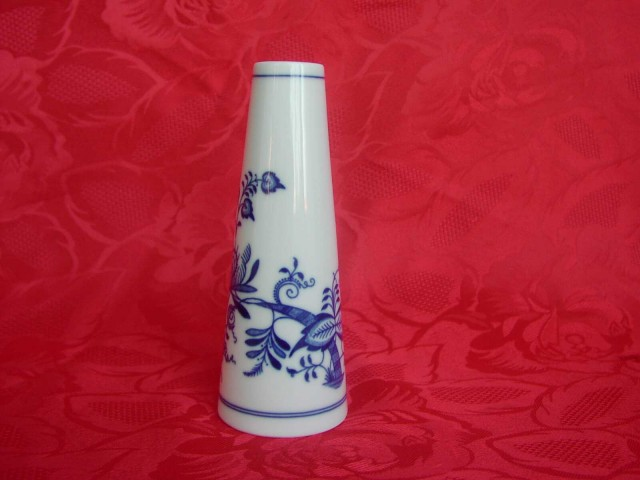 Cibulák Váza úzká 15 cm originální cibulákový porcelán Dubí, cibulový vzor, 1.jakost
