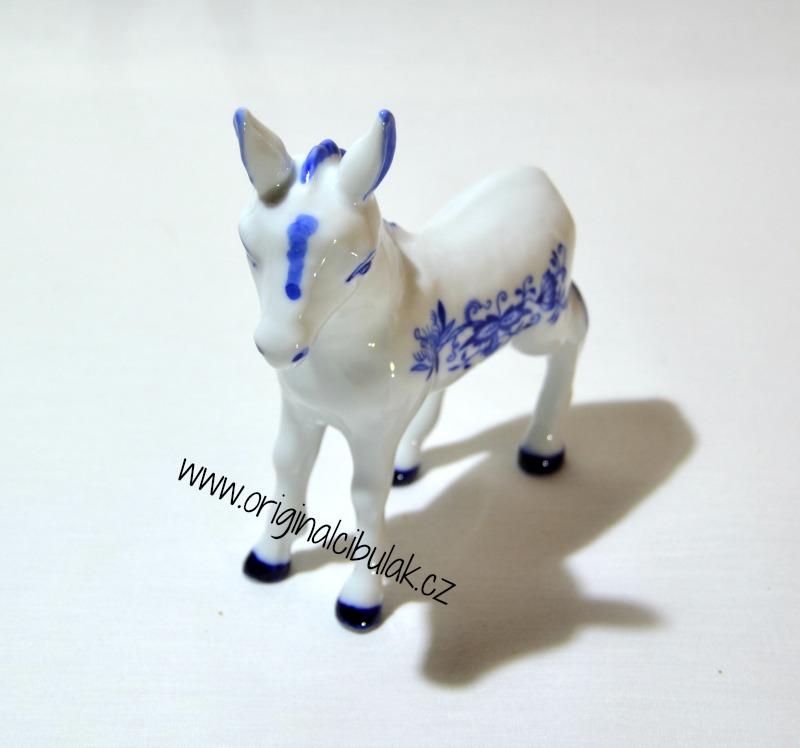 Cibulák Oslík 11 cm originální cibulákový porcelán Dubí, cibulový vzor, 1.jakost