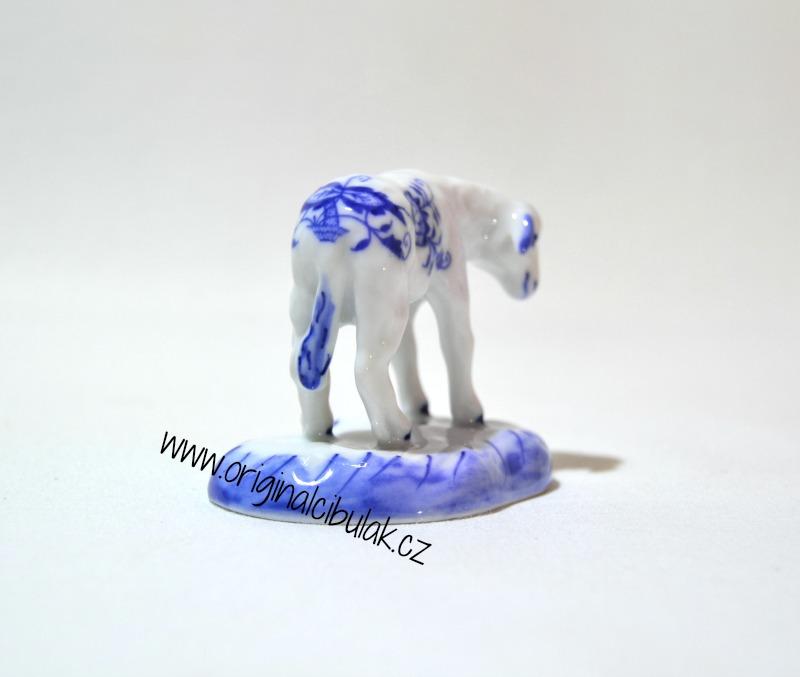 Cibulák Jehně s hlavou dolů 6 cm originální cibulákový porcelán Dubí, cibulový vzor, 1.jakost