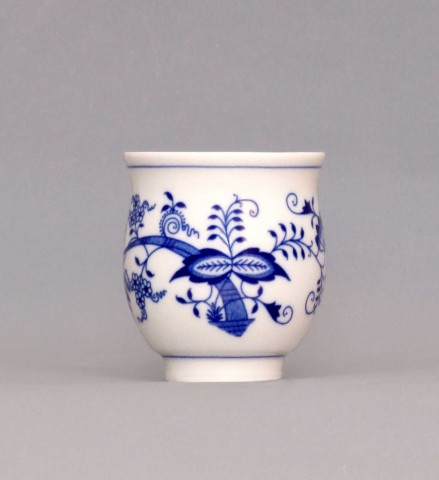 Cibulák Pohárek na čaj 0,18 l originální cibulákový porcelán Dubí, cibulový vzor, 1.jakost